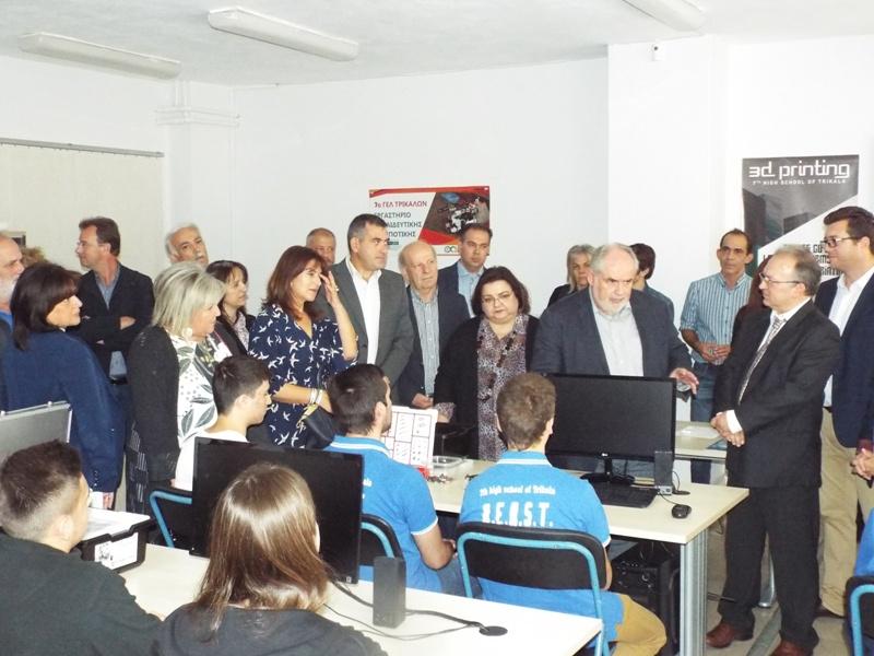 Υπουργική επίσκεψη σε ρομποτικές καινοτομίες στα Τρίκαλα